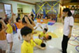Children are doing physical activity